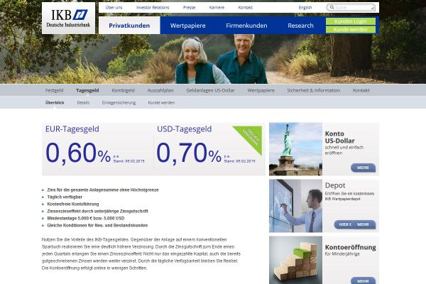 IKB Deutsche Industriebank Tagesgeld