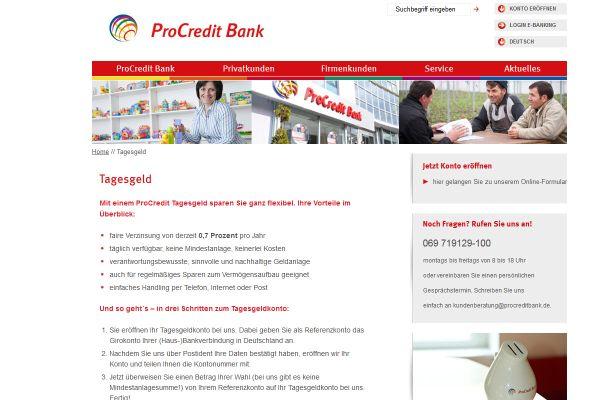 ProCredit Bank Tagesgeld