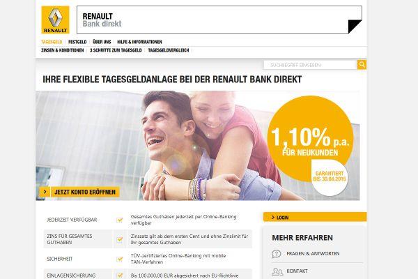 Renault Bank Tagesgeld