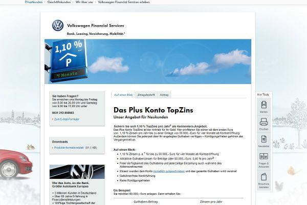 Volkswagen Bank Tagesgeld