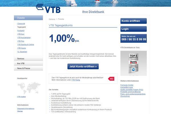 VTB Direktbank Tagesgeld