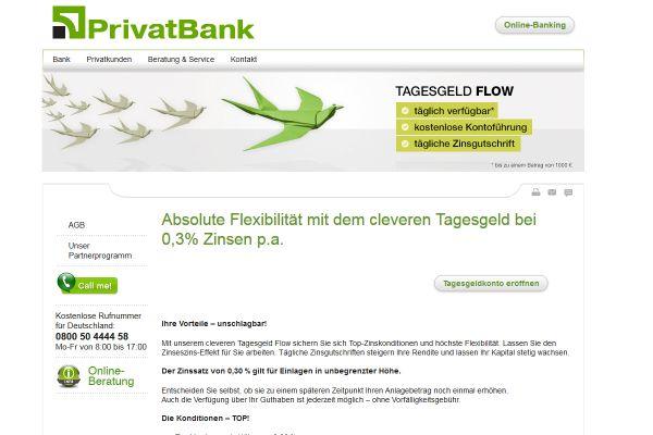 PrivatBank Tagesgeld